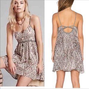 Free People Zig Zag Sexy Back Lined Mini Dress